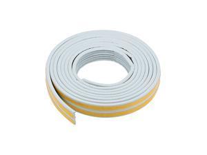 Total 65.6 Feet Long Brown 4Pcs Foam Tape Adhesive Seal Strip 9mm Width 4mm Thick