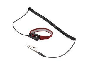 Anti Static Wrist Straps, ESD Components, Stainless Steel Magnetic Tray Grounding Wire Alligator Clip Red Black 3pcs