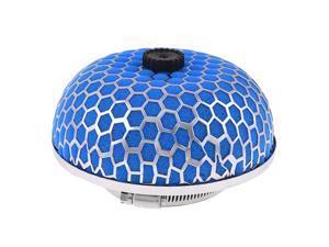 "Car Stainless Steel Mesh Blue Micro Foam Air Flow Filter 76mm 3"" Dia"