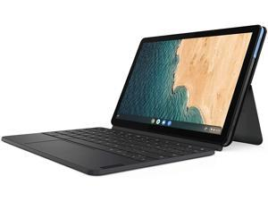 Lenovo Ideapad Duet Chromebook, 10.1-inch Full HD (1920x1200) Touch Display IPS, Chrome OS, MediaTek P60T Processor, 4GB RAM, 128GB Storage, Ice Blue + Iron Grey (ZA6F0017AU)