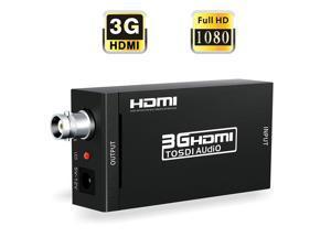 HDMI to SDI Converter WERLEO HDMI to SDI Video Converter BNC SDI / HD-SDI / 3G-SDI Adapter Support 1080P for Camera Home Theater