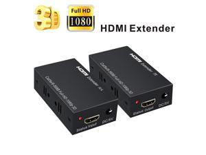 HDMI Extender WERLEO 196ft / 60m 1080P HDMI Extenders Over Single Cat 5E / 6 / 7 Support 1080p 3D HDMI 1.4a HDCP EDID
