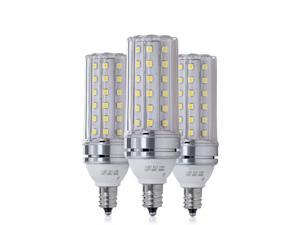 E12 LED Bulbs 16W LED Candelabra Bulb 120 Watt Equivalent 1400lm Decorative Candle Base E12 Non-Dimmable LED Chandelier Bulbs Cool White / Warm White 6000K LED Corn Lamp Pack of 3