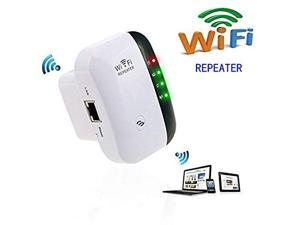 WiFi Range Extender Wireless 300Mbps Access Point 2.4GHz High Speed Network Ap Repeater Modes with Ethernet Port WiFi Signal Internet Booster Compatible with Alexa US Plug