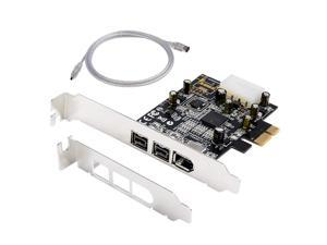 WERLEO Firewire Card 1394B Firewire PCIe Card 3 Port (Two 1394B Port & One 1394A Port) TI Chi Come with Low Profile Bracket & Firewire Cable HD DV HDV Video Capture Card for PC Windows 10