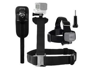Werleo Shoulder Harnes Head Strap and Wrist Mount Bundle compatible with Gopro Hero 7, 6, 5, Black, Session, Hero 4, Session, Black, Silver, Hero+ LCD, 3+, 3, 2, 1