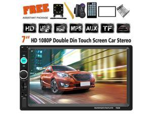 Double Din Car Stereo 7 Inch Touch Screen Headunit MP5 Player Receiver TF FM Radio Car Audio Bluetooth Support Backup Rear View Camera Steering Wheel Remote Control Mirror Link