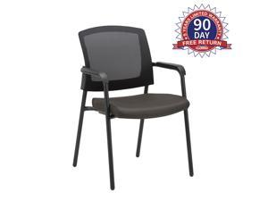 CLATINA Office Reception Guest Chair Mesh Back Stacking with Ergonomic Lumbar Support and Thic