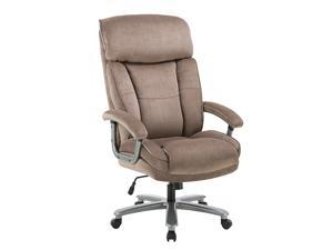 Office Chair Gaming Chair, Ergonomic Big Chair 400lbs Upholstered Swivel Adjustable Height Thick Padding Headrest, Beige