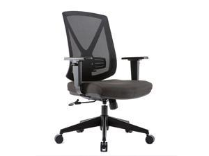 CLATINA XDD3 Series  Ergonomic High Mesh Swivel Desk Chair with Adjustable Height Arm Rest Lumbar Support and Upholstered Back for Home Office