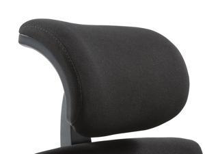 CLATINA 247 Series Adjustable Height Upholstered Headrest, Black