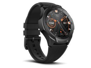 TicWatch S2 Midnight Black Smart Watch US Military Satandard 810G Bluetooth Smartwatch with GPS Wear OS by Google 5 ATM Waterproof Android & iOS Compatible 2-Day Batterylife