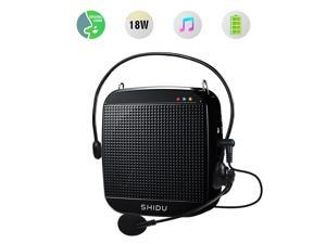 Portable Voice Amplifier 18W,Mini Voice Amplifier with Wired Microphone Headset Rechargeable Portable Microphone and Speaker PA System for Teachers,Singing,Classroom,Tour Guide,Elderly,Yoga