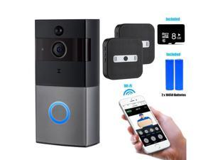 Video Doorbell Intercom 960P HD WiFi Video Doorbell With Camera Peephole Door Chime 8G Memory and Night Vision Ring Video Doorbell with HD Video, Easy Installation