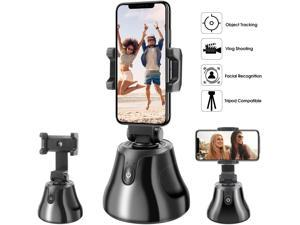 All-in-one Selfie Video Smart Shooting Camera Automatically Face Object Tracking Gimbal 360°Horizontal Rotation Phone Holder Mount, Compatible with iPhone Android Cell Phone
