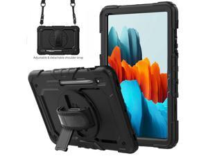 Samsung Galaxy Tab S7 Case 2020, Heavy Duty Shockproof Protective Cover with S Pen Holder, Hand Strap, Shoulder Strap, Kickstand for Galaxy Tab S7 11 Inch 2020 Model SM-T870 SM-T875 SM-T876