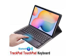 Wireless Bluetooth Keyboard Case for Samsung Galaxy A7 10.4 Inch 2020 Model SM-T500 SM-505 SM-T507 PU Leather Protective Cover with Touchpad