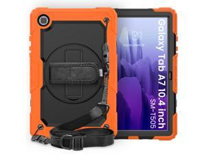 Samsung Galaxy Tab A7 10.4 Case 2020 with Screen Protector Shockproof Protective Cover with Kickstand & Shoulder Strap for Samsung Galaxy Tab A7 10.4 Inch 2020 Model SM-T500 T505 T507