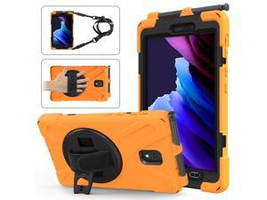 Samsung Galaxy Tab Active 3 2020 Case Model SM-T570 SM-T575 SM-T577 8.0 inch Tablet Shockproof Cover with 360 Degree Rotating Handle Strap & Shoulder and Kickstand