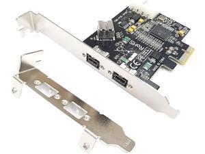 3 Port PCI-E Firewire 800 Card IEEE External1394B x 2 + Internal 1394B x 1 Controller Card Adapter for Win 7/8/10
