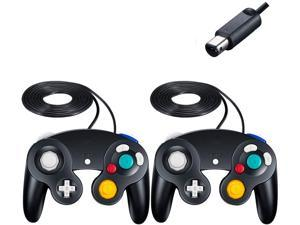 Gamecube Controller Wired Controllers Classic Gamepad 2 Pack Joystick for Nintendo and Wii Console Game Remote