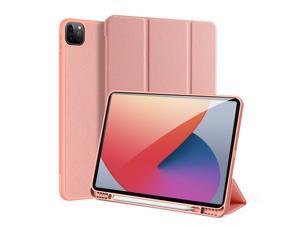 iPad Pro 12.9 inch Case 2021 with Pencil Holder, Slim Lightweight Trifold Standing Case (Pencil Charge+Auto Sleep/Wake+ Full Protective) Soft TPU Back Cover for iPad pro 12.9 2021