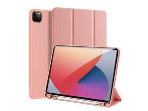 """Case for iPad Pro 11 inch 2021 (3rd Generation) with Pencil Holder, Support iPad 2nd Pencil Charging,Soft TPU Back Slim Trifold Protective Case Cover for iPad Pro 11"""" 2021"""
