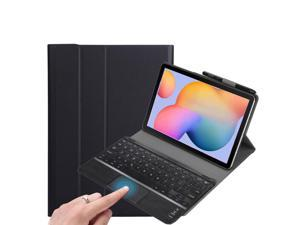 Touchpad Keyboard Case for Samsung Galaxy Tab A7 Lite 8.7 inch 2021 Model SM-T220 SM-T225 Detachable Wireless Keyboard with Trackpad & Pencil Holder