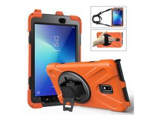Case for Samsung Galaxy Tab Active 2 8.0 SM-T390 T395 T397 Heavy Duty Kids Protective Case Cover with Pen Holder with 360 Degree Rotating Hand Strap / Kickstand + Shoulder Strap