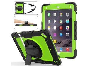 iPad 9.7 2018 2017 Case iPad Air 2 Case iPad Pro 9.7 Case Heavy Duty Rugged Shockproof Protective Hard Case Cover For for Apple iPad 6th / 5th Generation / iPad Air 2 / iPad Pro 9.7 inch