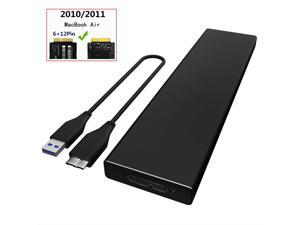 PCIe SSD Enclosure for 2010 2011 MacBook Air, USB 3.0 External Reader for A1369 A1370 SSD Adapter with Case, Support Model MC503 MC504 MC965 MC966 MC505 MC506 MC968 MC969
