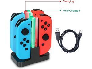 Nintendo Switch Joy-Con Charging Dock 4 in 1 Joy-Con Charger Station for Nintendo Switch Controller with Individual LEDs indication