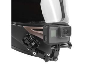Motorcycle Helmet Chin Swivel 3 Way Pivots Rotation Mount Kit for GoPro Hero 7 Gopro 2018 Gopro 6 5 4 3 / Gopro Hero Black Session Xiaomi Yi SJCAM and Other Action Camera