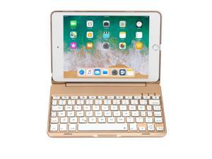 iPad Mini 5 / Mini 4 Keyboard - 135 Degree Flip - 7 Color Backlit - Auto Sleep/Wake - Ultra-Thin Keyboard Case Cover for Apple iPad Mini 5 (2019) iPad Mini 4 (2015)