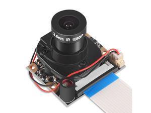 Raspberry Pi 3 2 Model B B Plus A+ Camera Module with Automatic IR-Cut Night Vision Camera Video Module Adjustable Focus 5MP OV5647 Sensor 1080p HD Webcam Camera for Raspberry Pi 2 3 Model B Model B+