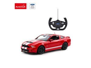 Shelby GT500 - red. Scale 1:14. Radio controlled car for children age from 7 years old. Made by Rastar, Official licensed car.