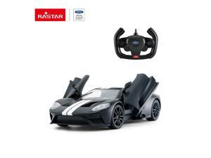 Ford GT (Doors manually) - Black. Scale 1:14. Radio controlled car for children age from 7 years old. Made by Rastar, Official licensed car.