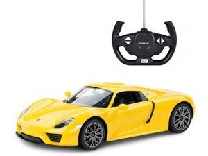 Porsche 918 spyder. Scale 1:14. Radio controlled car for children age from 7 years old. Made by Rastar, Official licensed car.
