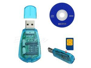 USB Cellphone Standard SIM Card Reader Cloner Writer Copy SMS Backup GSM CDMA+CD