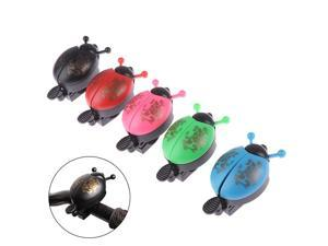 Lovely Bike Bells Alarm Horn Bicycle Ladybug Bell Mini Ladybird Alarm Bike Handlebar Horn Cycling Safety Accessories Bell Ring