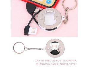 3 IN 1 Charging Cable for iPhone /Android/ iPad Multifunction Charging Cable with Bottle Opener Charger for iPhone/Type-C Phones