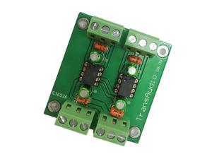 Unbalanced To Balanced Output Stereo Converter Board Low Distortion Drv134Pa