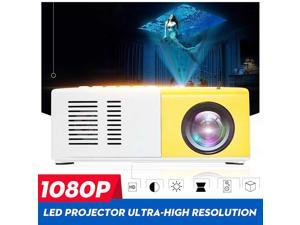 1 Set 1080P Full HD Portable Projector Mini Video HDMI LED Lights + 4:3 60 inch Projector Screen for Home Theater Family Beamer