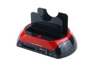 All in One Dual Slots USB 2.0 To SATA IDE HDD Docking Station With Card Reader For 2.5 3.5 Inch IDE SATA Hard Drive
