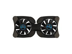 Pliable USB Cooling Pads de refroidissement avec double ventilateur Mini Octopus Notebook Cooler Cooling Pad pour 7-15 pouces Notebook Laptop