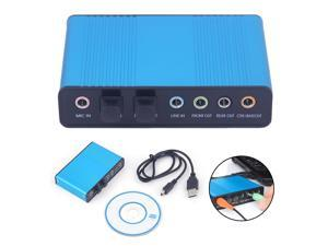 Professional External USB Sound Card Channel 5.1 /7.1 Optical Audio Card Adapter Audio Driver for PC Computer Laptop