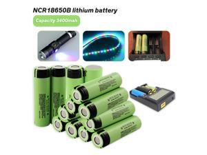 2pcs/lot Original NCR18650B 3.7 v 3400 mah High capacity 18650 Lithium Rechargeable Battery For lashlight LED Lamp batteries