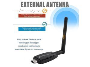ping 300Mbps Wireless USB WiFi Adapter + 3dBi WiFi Antenna Network Adapter Dongle for Windows 7/8/10/Kali Linux
