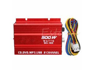 Mini Hi-Fi 500W 2 Channel Stereo Audio Amplifier For Car Auto Motorcycle