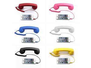 2018  Retro Telephone 3.5mm Comfort Mini Mic Speaker telephone Handset Radiation-proof Phone Call Receiver For Iphone Samsung